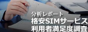 分析レポート:格安SIM利用満足度調査