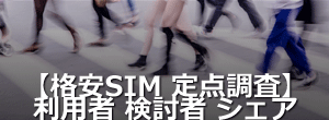 格安SIM購入時意識調査レポート
