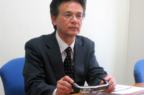 Google Glassとは違う点を柳田部長は強調