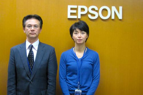 取材協力頂いたエプソン販売の柳田部長と岡本さん